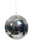Silver, mirrored Disco ball on white Royalty Free Stock Photography