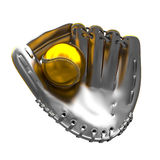 Silver mitt Royalty Free Stock Photos