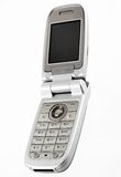Silver mobile phone Royalty Free Stock Image