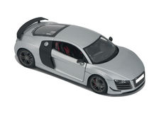 Silver model sport car Stock Image