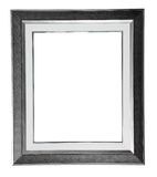 Silver modern frame Stock Photos