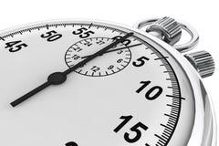Silver modern Stopwatch Stock Photography