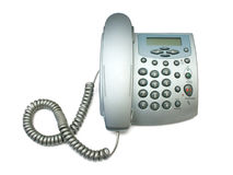 Silver modern telephone Stock Photos
