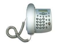 Silver modern telephone Stock Photos