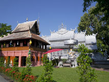 Silver monastery in Wat srisuphan Royalty Free Stock Photo