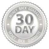 Silver money back sign Stock Photo
