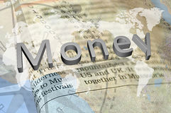 Silver money Royalty Free Stock Photography