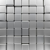 Silver monochrome cubes Royalty Free Stock Photo