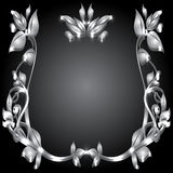 silver monogram Stock Photo