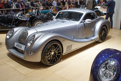 Silver Morgan Aero 8 Geneva Motor Show 2015 Royalty Free Stock Photo