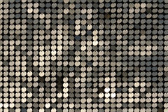 Silver mosaic with light spots Royalty Free Stock Image