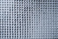 Silver Mosaic pattern of tiles.Wall is decorated with stained glass small plate ,Beautiful mosaic wall or ceramic wall for pattern royalty free stock image