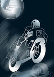silver Motorbike Racing  Stock Photography