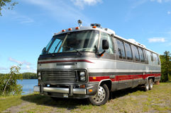Silver Motorhome Stock Photography