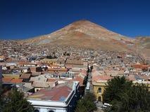 Silver mountain. Famous silver mountain near the highest city in the world (Potosi, Bolivia Royalty Free Stock Photo