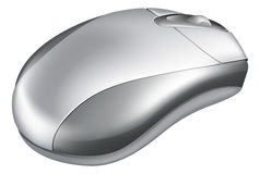 Silver Mouse Illustration Stock Photography