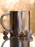 Silver mug Royalty Free Stock Photo