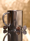Silver mug Stock Image