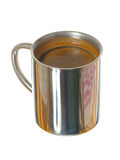 Silver mug coffee Royalty Free Stock Photos
