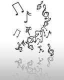 Silver music notes Royalty Free Stock Photo
