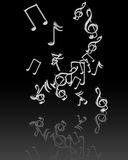 Silver music notes Royalty Free Stock Image