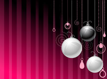 Silver nad black balls Royalty Free Stock Images