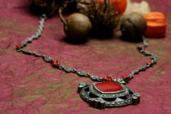 Silver necklace Stock Images
