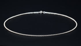 Silver necklace Royalty Free Stock Photo