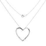 Silver necklace Stock Photography