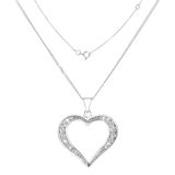 Silver necklace Stock Photos