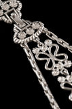 Silver necklace clasp Stock Image