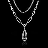 Silver necklace Royalty Free Stock Image