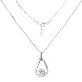 Silver necklace and pendant Stock Image
