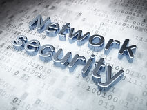 Silver Network Security on digital background Stock Images