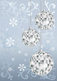 Silver new year's card. Vector Stock Photography