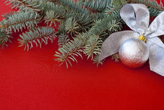 Silver New Year's decoration Royalty Free Stock Image