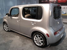 Silver Nissan Cube Royalty Free Stock Photos
