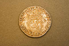 Silver Noble of King James the first. Stock Photo