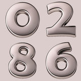 Silver numbers Stock Image