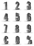 Silver numbers. With euro and percent symbol Royalty Free Stock Photos