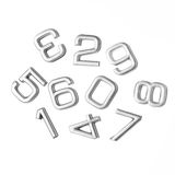 Silver numbers isolated Royalty Free Stock Image