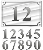 Silver numbers Stock Photos