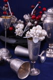 Silver objects Stock Photo
