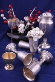 Silver objects Stock Images