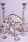 Silver objects Royalty Free Stock Photography