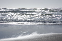 Silver ocean waves Royalty Free Stock Image