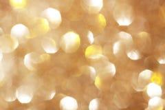 Silver och guld- gnistrandebakgrund Royaltyfria Foton