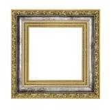 Silver och guld- ram royaltyfri foto