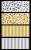 Silver och guld- texturuppsättning Arkivfoto