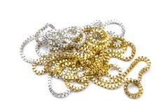 Silver- och guldhalsband Royaltyfria Foton